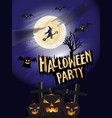 halloween party concept background vector image vector image