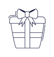 happy birthday wrapped gift box surprise vector image vector image