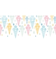 Ice cream cones textile colorful horizontal vector image vector image