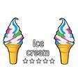 Ice cream vintage retro label vector image vector image