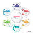 infographic numbered process circular chart vector image vector image