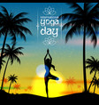 international yoga day vector image