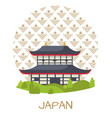 japan travelling poster with authentic building vector image vector image