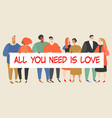 loving couples different sexual orientation vector image