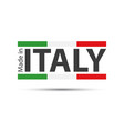 made in italy colored italian symbol vector image vector image