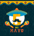 mexican cinco de mayo mariachi party poster vector image vector image