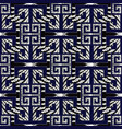modern geometric meander seamless pattern dar vector image