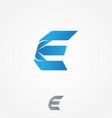 modern letter e for your best business symbol vector image vector image