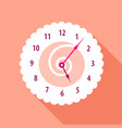 modern wall numbered clock icon flat style vector image vector image
