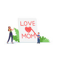 mother day celebration concept tiny child vector image vector image