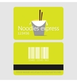 Noodles restaurant Template loyalty card design vector image