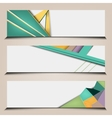polygonal abstract banners set vector image vector image