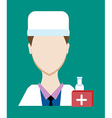 Profession people doctor Face male uniform Avatars vector image vector image