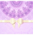 Purple vintage lacy wedding card template vector image