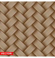 realistic braided wooden wicker seamless texture vector image vector image
