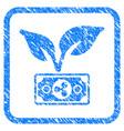 ripple eco startup framed stamp vector image vector image