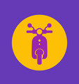 scooter round icon vector image