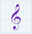 Scribble icon on the school paper vector image
