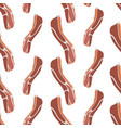 seamless pattern with bacon on a white background vector image vector image