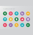 set of 15 editable game icons includes symbols vector image vector image