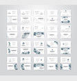 set of business card on white background with vector image