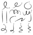 set of hand drawn different arrow vector image vector image