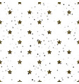 star shape glitter gold black and white seamless vector image vector image