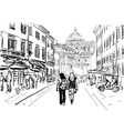 street in Italy vector image vector image