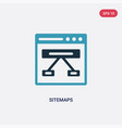 two color sitemaps icon from technology concept vector image vector image