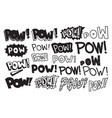 typography slogan pow text universal short quote vector image