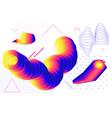 universal gradient geometric shapes set vector image vector image