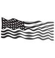usa flag grayscale vector image vector image