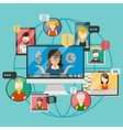Web conference concept or online vector image