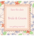 Wedding invitation flowers background vintage vector image vector image