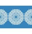 White snowflakes Christmas pattern Circular vector image vector image