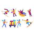 winter fun and sports set vector image