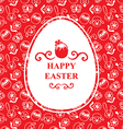 easter muzzle egg vector image