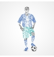Soccer football athlete vector image