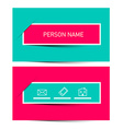 Business Card Retro Simple Layout - Template vector image