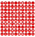 100 tension icons set red vector image vector image