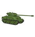 3d on white background a green military tank