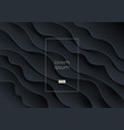 abstract background black wavy layered shapes vector image