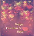 abstract glow soft hearts for valentines day vector image vector image