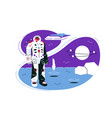 astronaut on lunar mission space exploration vector image vector image