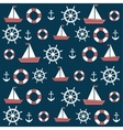 background with anchors and boats vector image vector image