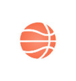 basketball ball halftone on a white background vector image vector image