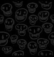black on black skulls pattern vector image vector image