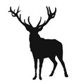 black silhouette a deer on a white background vector image vector image
