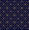 blue christmas pattern background with golden vector image vector image