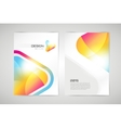 brochure template Abstract arrow design vector image